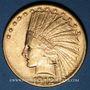 Coins Etats Unis. 10 dollars 1912. Tête d'indien. (PTL 900‰. 16,71 g)