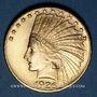 Coins Etats Unis. 10 dollars 1926. Tête d'indien. (PTL 900‰. 16,71 g)