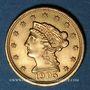 Coins Etats Unis. 2 1/2 dollars 1905. (PTL 900/1000. 4,18 g)
