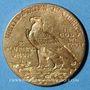 Coins Etats Unis. 2 1/2 dollars 1910. Tête d'indien. (PTL 900‰. 4,18 g)