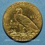 Coins Etats Unis. 2 1/2 dollars 1912. Tête d'indien. (PTL 900‰. 4,18 g)
