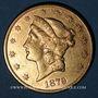 Coins Etats Unis. 20 dollars 1879 S. San Francisco. (PTL 900‰. 33,43 g)
