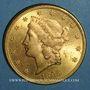 Coins Etats Unis. 20 dollars 1895. (PTL 900‰. 33,43 g)