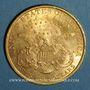 Coins Etats Unis. 20 dollars 1900. (PTL 900‰. 33,43 g)