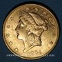 Coins Etats Unis. 20 dollars 1904. (PTL 900‰. 33,43 g)