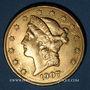 Coins Etats Unis. 20 dollars 1907. (PTL 900‰. 33,43 g)