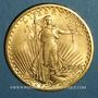 Coins Etats Unis. 20 dollars 1908. Statue de la Liberté. (PTL 900 ‰. 33,43 g)