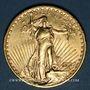 Coins Etats Unis. 20 dollars 1923. Statue de la Liberté. (PTL 900‰. 33,43 g)