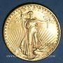 Coins Etats Unis. 20 dollars 1924. Statue de la Liberté. (PTL 900‰. 33,43 g)