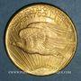 Coins Etats Unis. 20 dollars 1925. Statue de la Liberté. (PTL 900‰. 33,43 g)