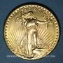 Coins Etats Unis. 20 dollars 1927. Statue de la Liberté. (PTL 900‰. 33,43 g)
