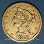 Coins Etats Unis. 5 dollars 1848. (PTL 900/1000. 8,36 g)