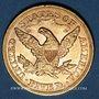 Coins Etats Unis. 5 dollars 1879. (PTL 900/1000. 8,36 g)