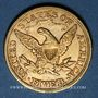 Coins Etats Unis. 5 dollars 1880. (PTL 900/1000. 8,36 g)