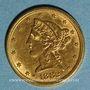 Coins Etats Unis. 5 dollars 1882. (PTL 900‰. 8,36 g)