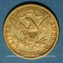 Coins Etats Unis. 5 dollars 1881. (PTL 900‰. 8,36 g)