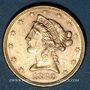 Coins Etats Unis. 5 dollars 1882 S. (PTL 900‰. 8,36 g)
