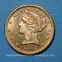 Coins Etats Unis. 5 dollars 1882 S. San Francisco. (PTL 900‰. 8,36 g)