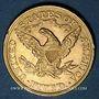Coins Etats Unis. 5 dollars 1892. (PTL 900‰. 8,36 g)
