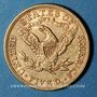 Coins Etats Unis. 5 dollars 1894. (PTL 900/1000. 8,36 g)