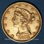 Coins Etats Unis. 5 dollars 1895. (PTL 900/1000. 8,36 g)