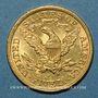 Coins Etats Unis. 5 dollars 1898. (PTL 900‰. 8,36 g)