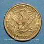 Coins Etats Unis. 5 dollars 1898 S San Francisco. (PTL 900‰. 8,36 g)