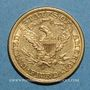 Coins Etats Unis. 5 dollars 1898S San Francisco. (PTL 900/1000. 8,36 g)
