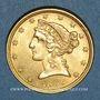 Coins Etats Unis. 5 dollars 1899. (PTL 900/1000. 8,36 g)