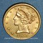 Coins Etats Unis. 5 dollars 1900S San Francisco. 900 /1000. 8,36 gr