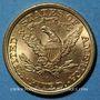 Coins Etats Unis. 5 dollars 1901. (PTL 900‰. 8,36 g)