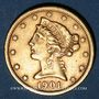 Coins Etats Unis. 5 dollars 1901S. San Francisco. (PTL 900/1000. 8,36 g)