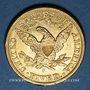 Coins Etats Unis. 5 dollars 1903S. San Francisco. (PTL 900/1000. 8,36 g)