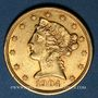Coins Etats Unis. 5 dollars 1904. (PTL 900‰. 8,36 g)