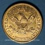 Coins Etats Unis. 5 dollars 1907. (PTL 900‰. 8,36 g)