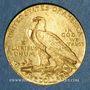 Coins Etats Unis. 5 dollars 1909. Tête d'indien. 900 /1000. 8,36 gr