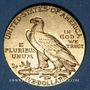 Coins Etats Unis. 5 dollars 1911. Tête d'indien. (PTL 900/1000. 8,36 g)