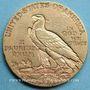 Coins Etats Unis. 5 dollars 1912. Tête d'indien. (PTL 900/1000. 8,36 g)
