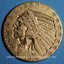 Coins Etats Unis. 5 dollars 1914. Tête d'indien. (PTL 900‰. 8,36 g)