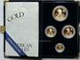 Coins Etats Unis. série de 4 monnaies d'or en flan bruni (American Eagle Gold), 5, 10, 25, 50 dollars 2001