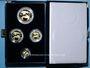Coins Etats Unis. Série de 4 monnaies d'or en flan bruni (American Eagle Gold), 5, 10, 25, 50 dollars