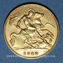 Coins Grande Bretagne. Edouard VII (1901-1910). 1/2 souverain 1910. (PTL 917/1000. 3,99 g)