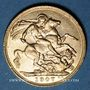 Coins Grande Bretagne. Edouard VII (1901-1910). Souverain 1907. (PTL 917‰. 7,99 g)