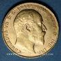 Coins Grande Bretagne. Edouard VII (1901-1910). Souverain 1910. Londres. (PTL 917/1000. 7,99 g)