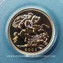 Coins Grande Bretagne. Elisabeth II (1952- ). 1/2 souverain 2001. (PTL 917‰. 3,99 g)