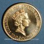 Coins Grande Bretagne. Elisabeth II (1952- ). 100 livres 1988. (PTL 917‰. 34,05 g)