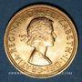 Coins Grande Bretagne. Elisabeth II (1952- /). Souverain 1962. (PTL 917‰. 7,99 g)