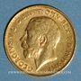 Coins Grande Bretagne. Georges V (1910-1936). 1/2 souverain 1911. (PTL 917‰. 3,99 g)