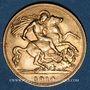 Coins Grande Bretagne. Georges V (1910-1936). 1/2 souverain 1914. (PTL 917‰. 3,99 g)