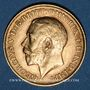 Coins Grande Bretagne. Georges V (1910-1936). 1/2 souverain 1914. (PTL 917/1000. 3,99 g)